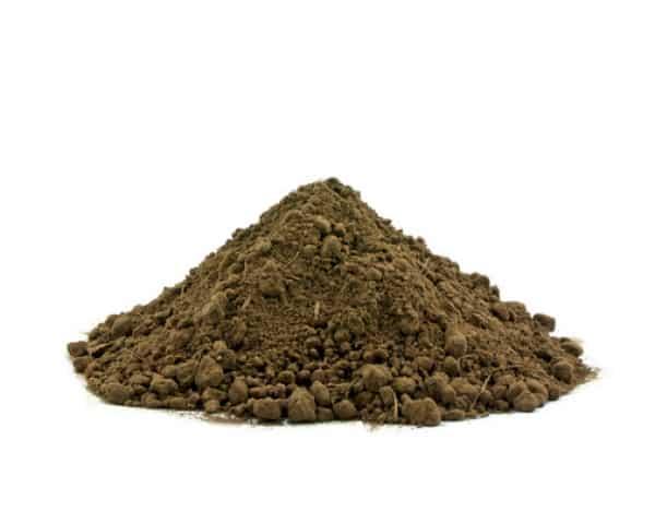 Garden soil in pile